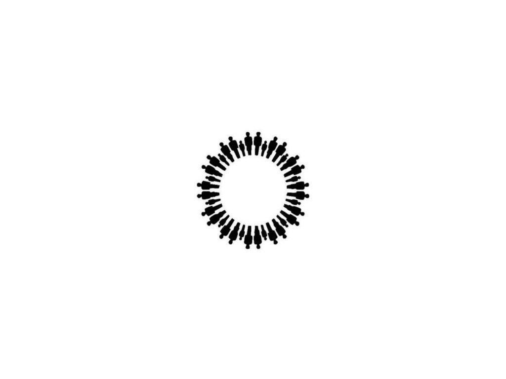 Mandala siluety - plastová šablona 127