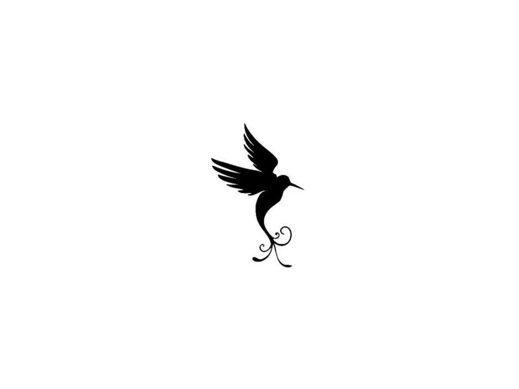 Ptáček - plastová šablona 129