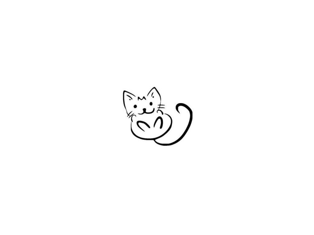 Kočička - plastová šablona 137