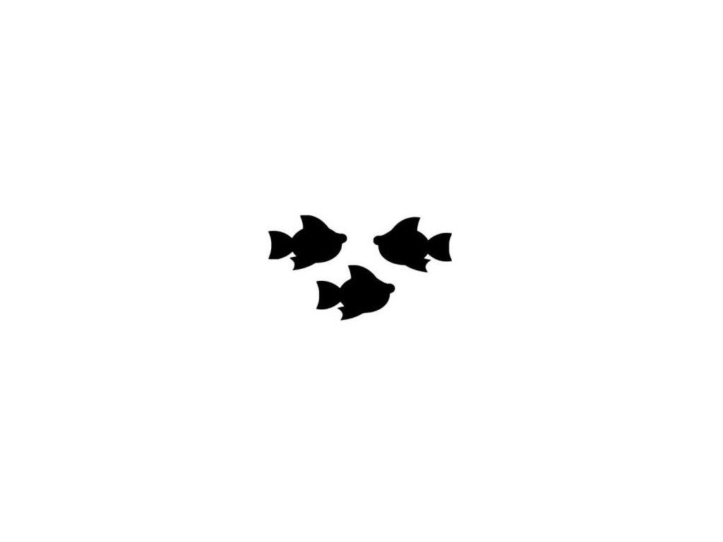 Rybičky - plastová šablona 143