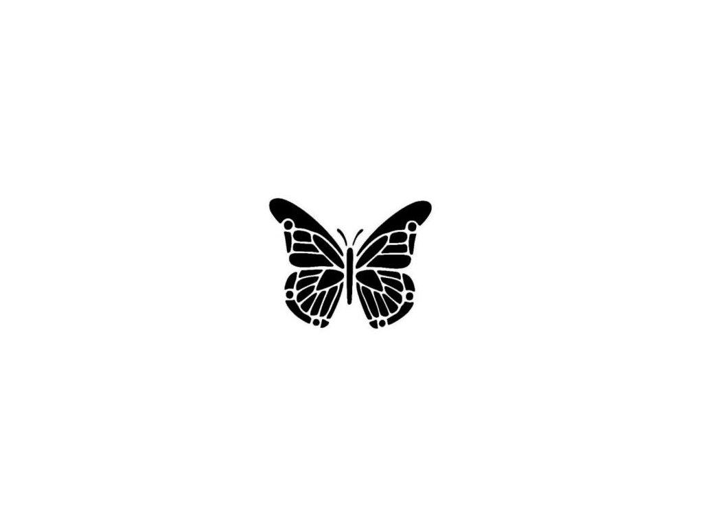 Motýlek - plastová šablona 145