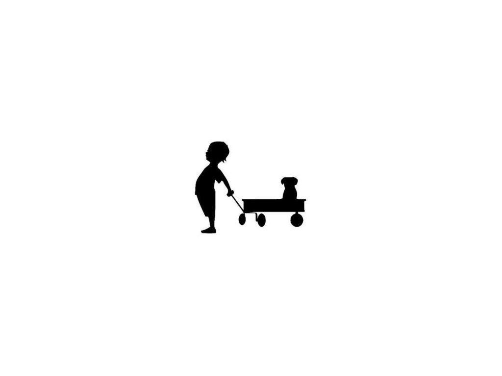 Dítě s vozíkem - plastová šablona 146