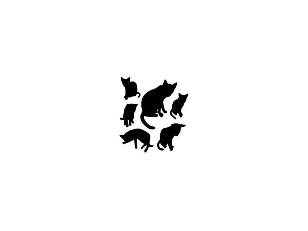 Kočky - plastová šablona 151