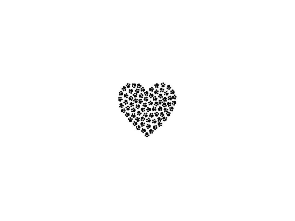 Tlapkové srdce - plastová šabona 154