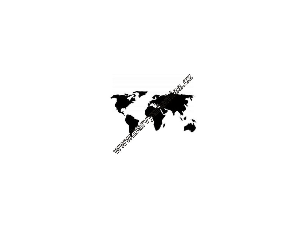 Mapa - plastová šablona 165