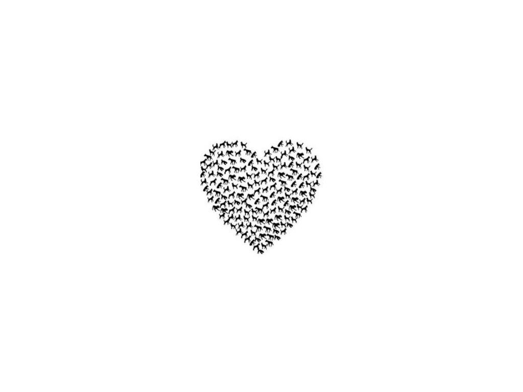 Pejskové srdce - plastová šablona 166