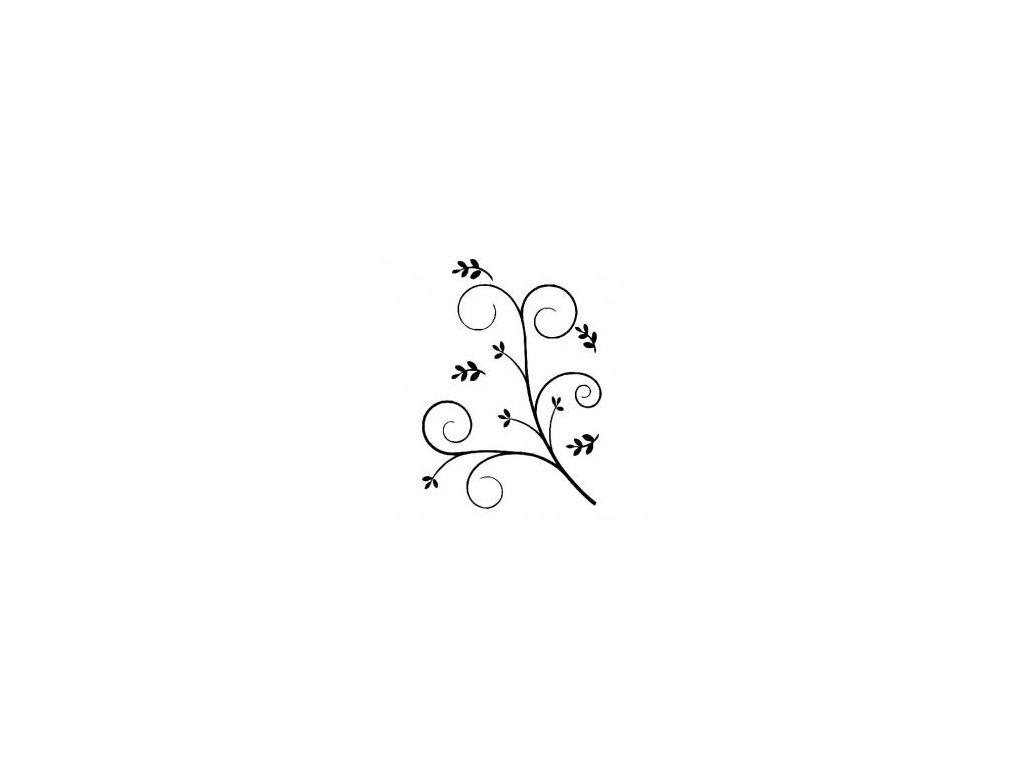 Kytka ornament - plastová šablona 169