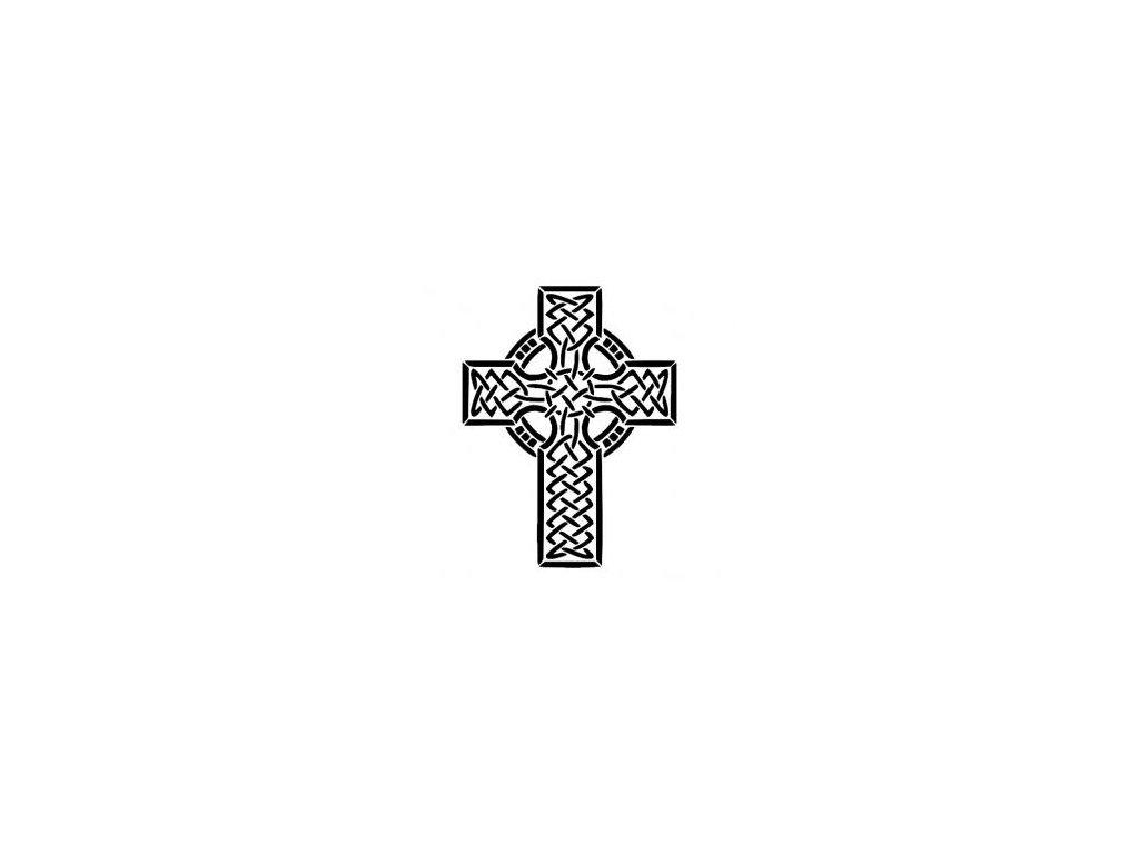 Keltský kříž - plastová šablona 171