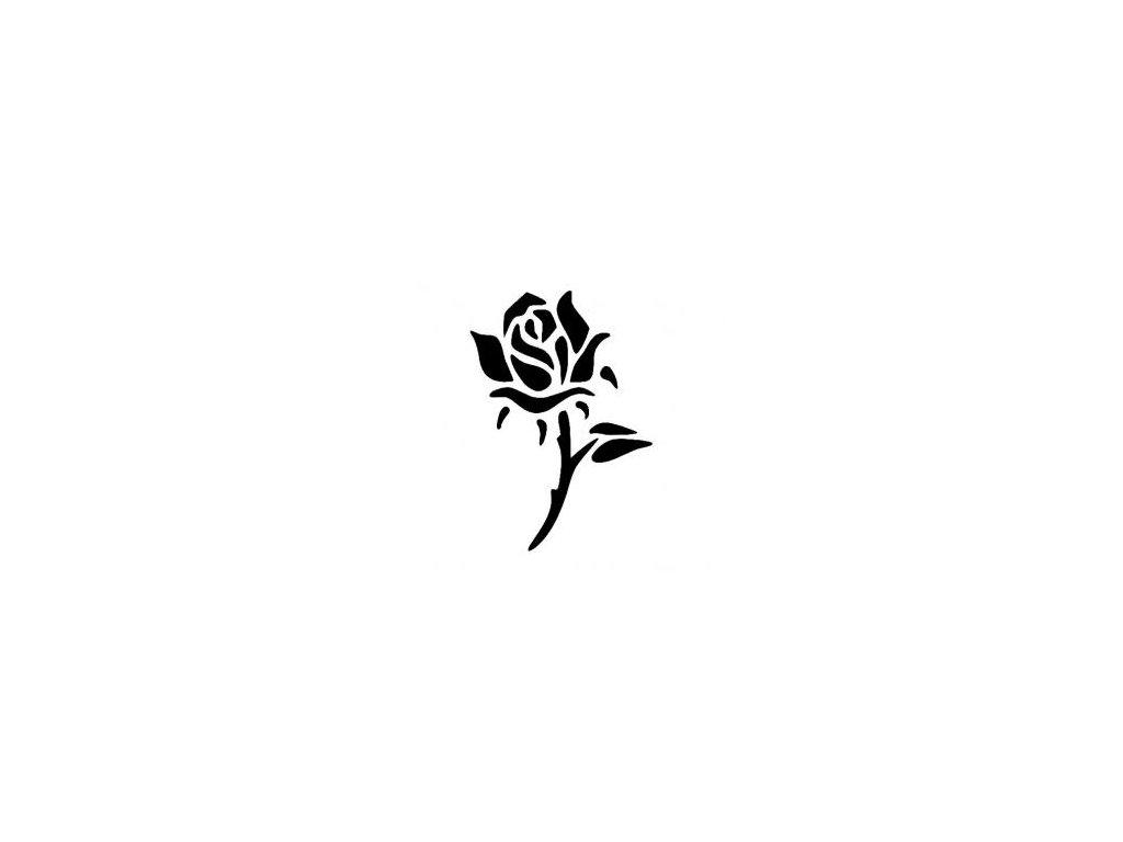 Růže - plastová šablona 198