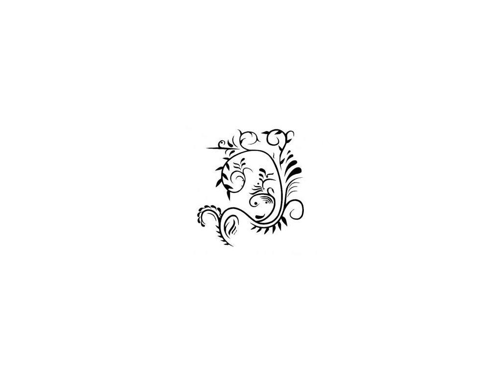 Kytka ornament - plastová šablona 206