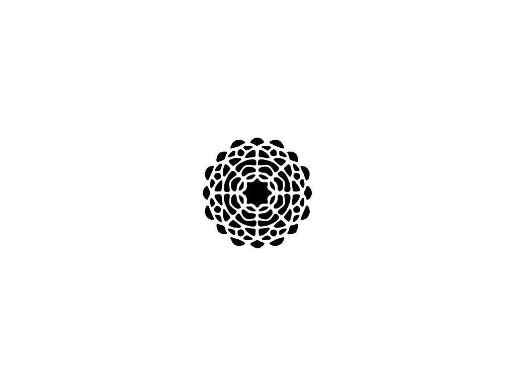 Mandala - plastová šablona 218