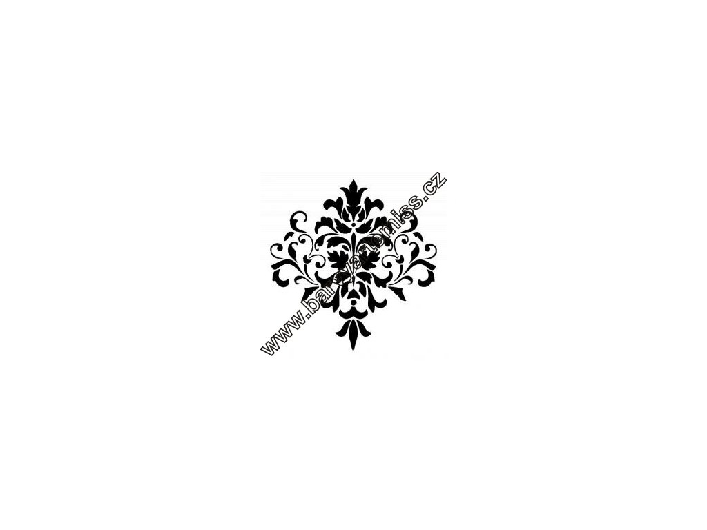 Kytka ornament - plastová šablona 248