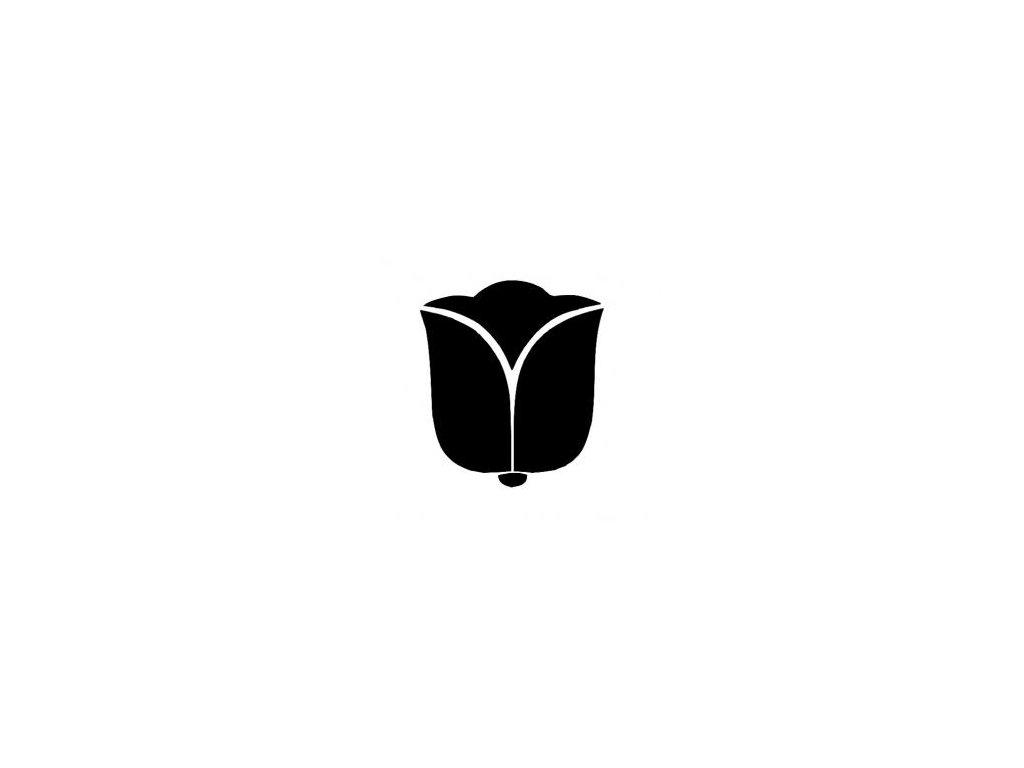 Kytka - tulipán - plastová šablona 252