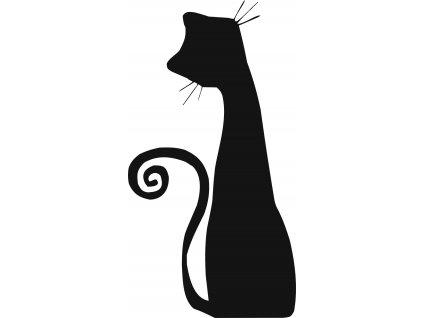 Kočka - plastová šablona 273