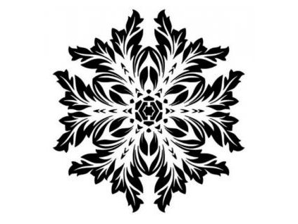 Mandala - plastová šablona 008
