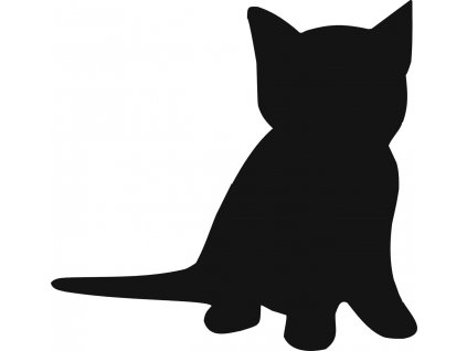 Kočka - plastová šablona 297