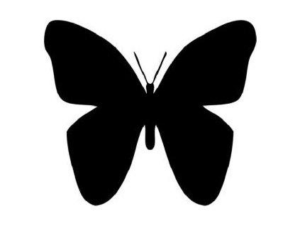 Motýlci - plastová šablona 020