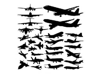 Letadla - plastová šablona 041