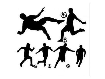 Fotbal - plastová šablona 042