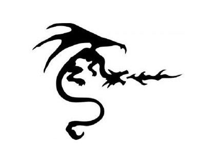Čínský drak - plastová šablona 054