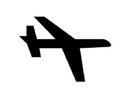 Letadlo - plastová šablona 073