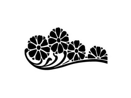 Květy - plastová šablona 103