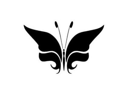 Motýl - plastová šablona 134