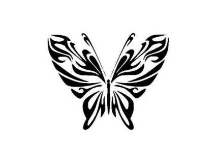 Motýl - plastová šablona 158
