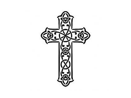 Kříž - plastová šablona 172