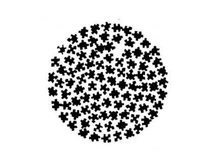 Koule puzzle - plastová šablona 173