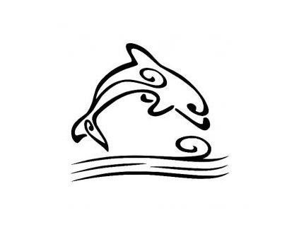 Delfín - plastová šablona 189