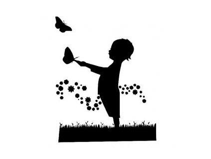 Dítě s motýlem - plastová šablona 195