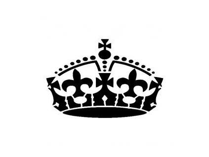 Královská koruna - plastová šablona 208