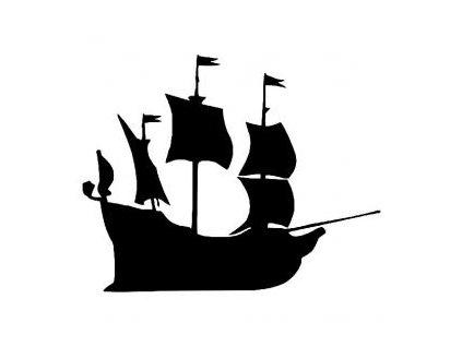 Pirátská loď - plastová šablona 227