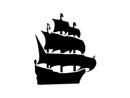 Pirátská loď - plastová šablona 228
