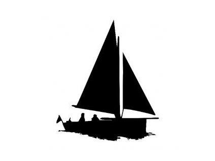 Plachetnice - plastová šablona 229