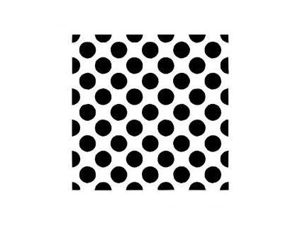 Puntíky - plastová šablona 240