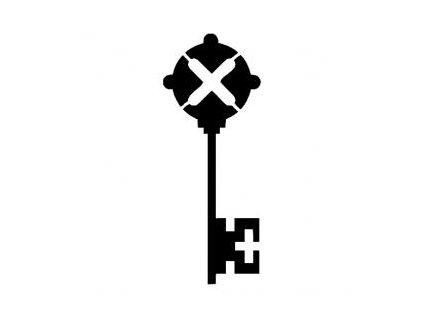 Klíč - plastová šablona 241