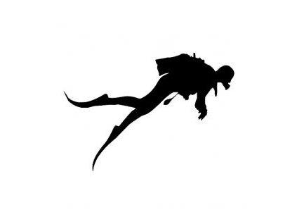 Potápěč - plastová šablona 256