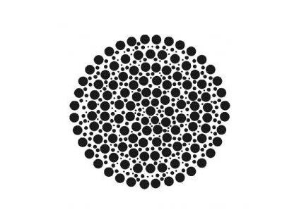 Mandala - plastová šablona 262