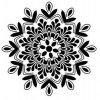 Mandala - plastová šablona 004