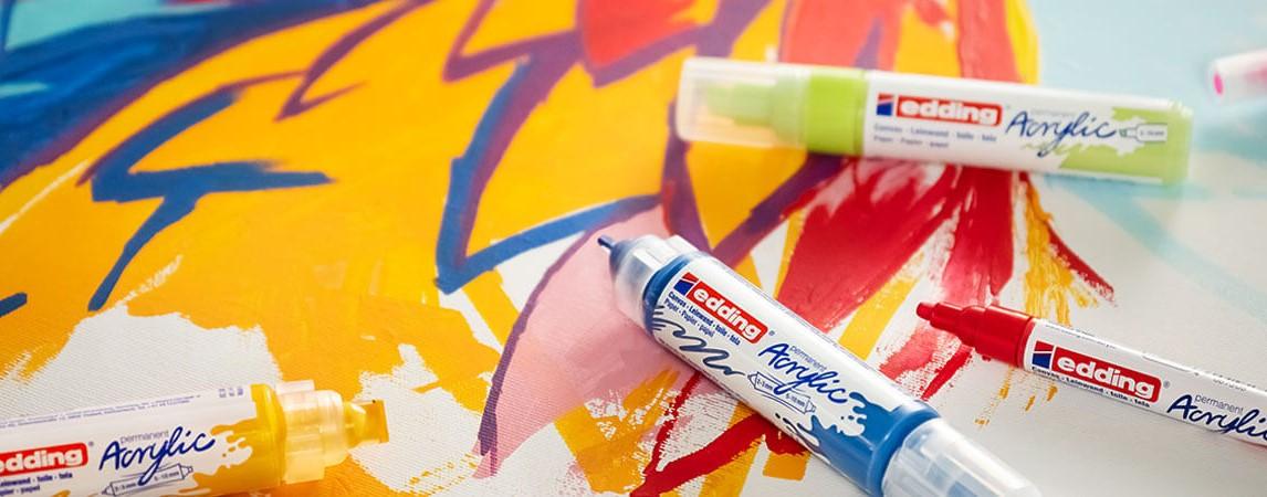 Edding acrylic - akrylové fixy