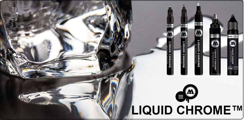 Molotow Liquid chrome - zrcadlový chrom ve fixu