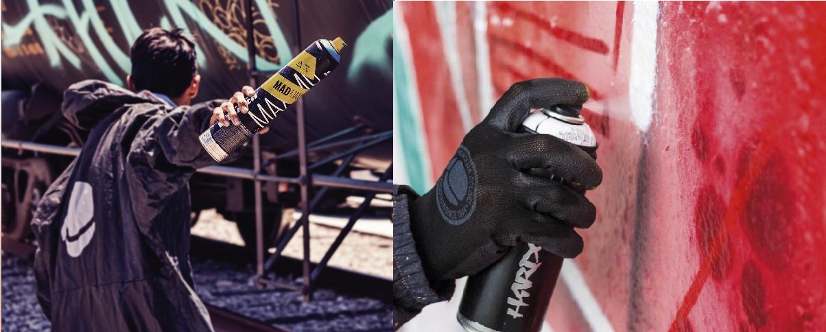 MTN action sprays - ultimátní nástroje pro graffiti