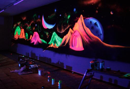 Fluo-neonové spreje aktivní pod UV světlem