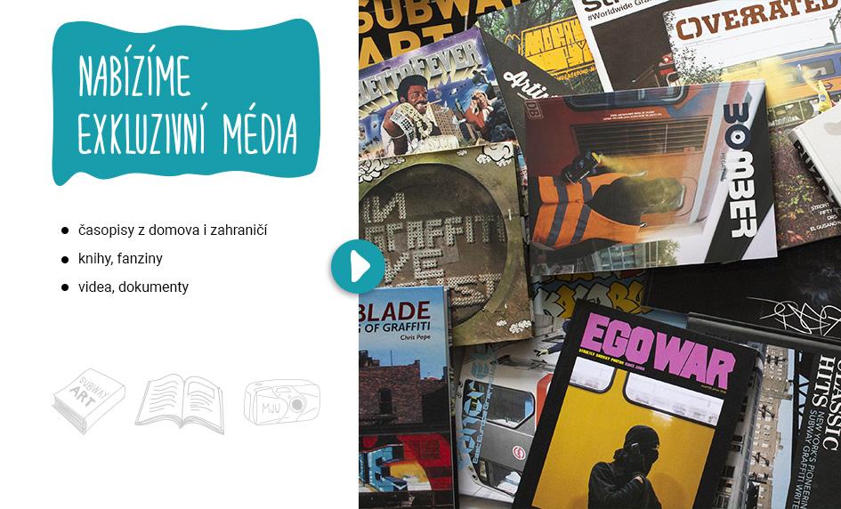 Graffiti časopisy, knihy, dvd