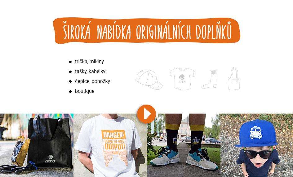 Originální doplňky, trička, kšiltovky, ponožky, tašky a další boutique