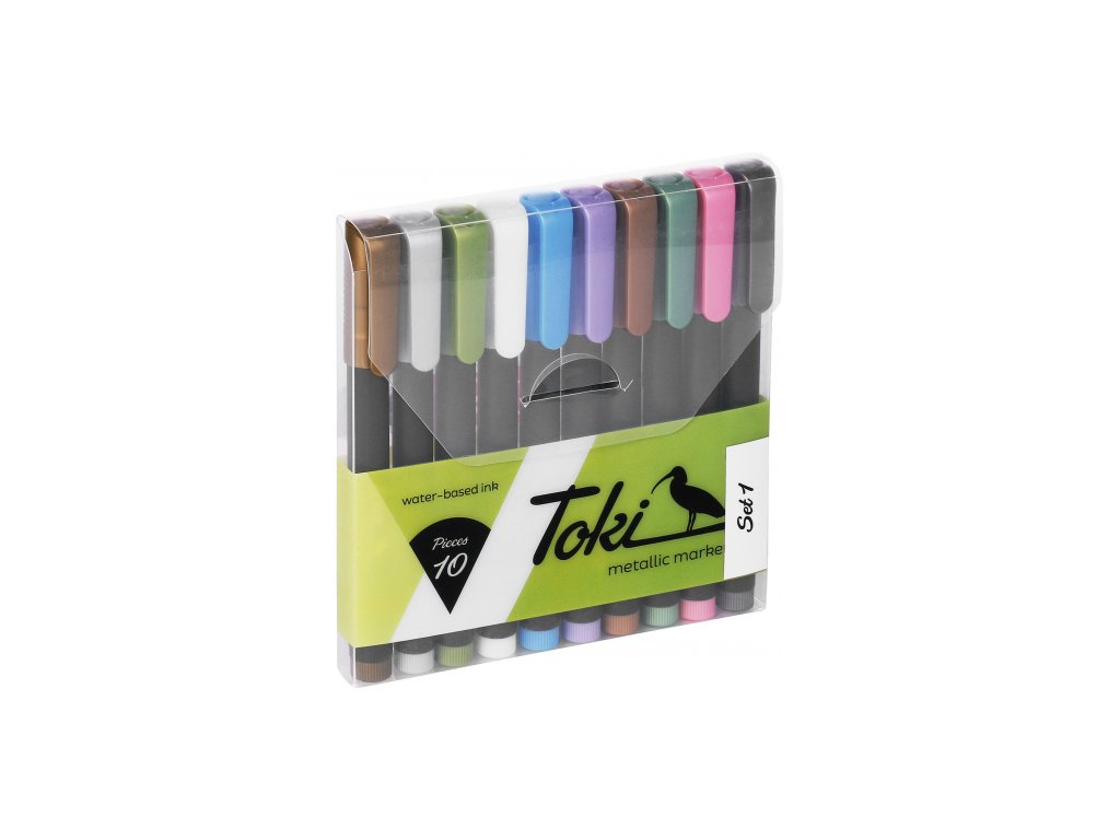 toki metallic marker set