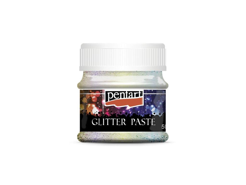 Pentart glitrová pasta 50 ml  Duhová, stříbrná a zlatá