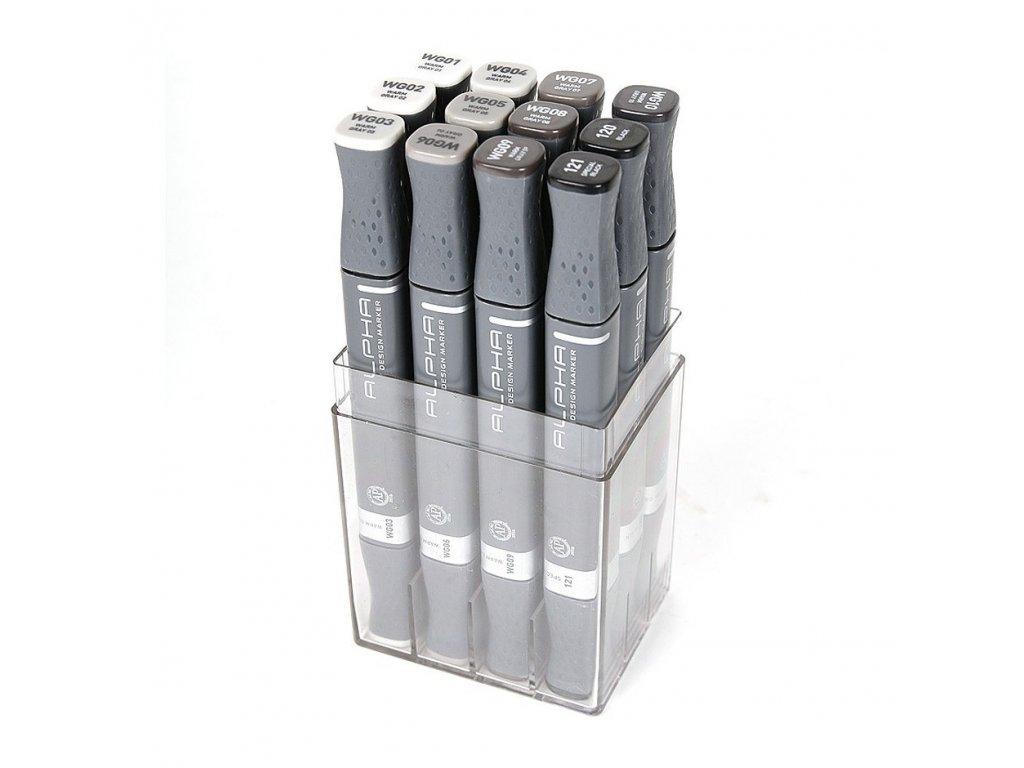 montana alpha design markers 12 set warm grey